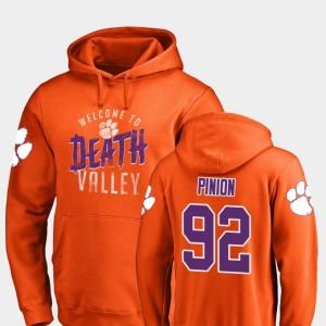#92 Bradley Pinion Clemson Tigers Mens Hometown Collection Logo Hoodie - Orange