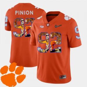 #92 Bradley Pinion Clemson Tigers Pictorial Fashion Football Men Jersey - Orange