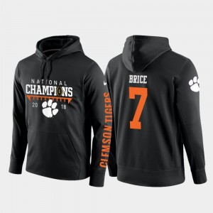#7 Chase Brice Clemson Tigers For Men's 2018 National Champions College Football Pullover Hoodie - Black