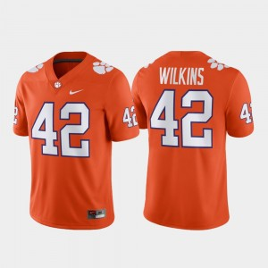 #42 Christian Wilkins Clemson Tigers Game Mens Football Jersey - Orange