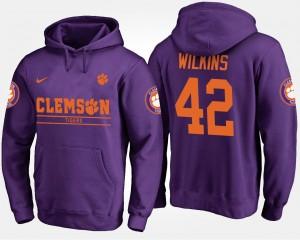 #42 Christian Wilkins Clemson Tigers For Men's Hoodie - Purple