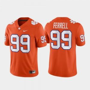 #99 Clelin Ferrell Clemson Tigers Game Football Mens Jersey - Orange