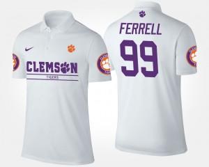 #99 Clelin Ferrell Clemson Tigers Men Polo - White