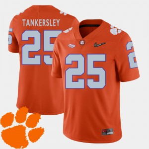 #25 Cordrea Tankersley Clemson Tigers 2018 ACC College Football Men's Jersey - Orange