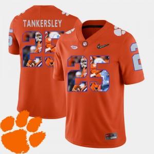#25 Cordrea Tankersley Clemson Tigers Men Football Pictorial Fashion Jersey - Orange