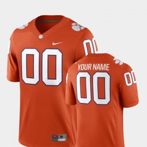 #00 Clemson Tigers College Football For Men's 2018 Game Customized Jerseys - Orange