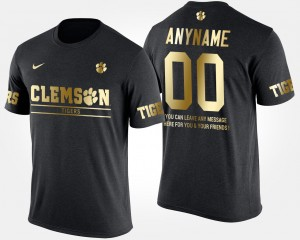 #00 Clemson Tigers Gold Limited Short Sleeve With Message Men's Customized T-Shirt - Black