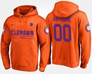 #00 Clemson Tigers For Men's Custom Hoodie - Orange