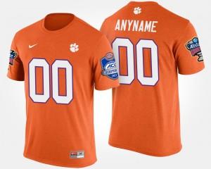 #00 Clemson Tigers Bowl Game For Men's Atlantic Coast Conference Sugar Bowl Custom T-Shirts - Orange