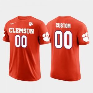#00 Clemson Tigers Future Stars Cotton Football For Men's Custom T-Shirt - Orange