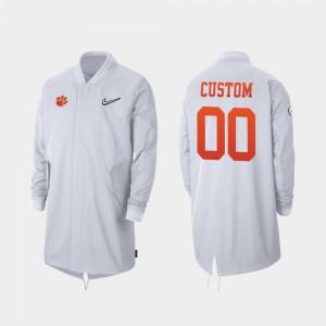 #00 Clemson Tigers 2019 College Football Playoff Bound For Men's Full-Zip Sideline Custom Jacket - White
