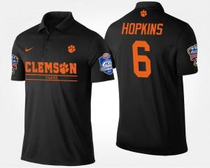 #6 DeAndre Hopkins Clemson Tigers Atlantic Coast Conference Sugar Bowl Bowl Game For Men Polo - Black