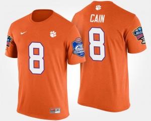 #8 Deon Cain Clemson Tigers Bowl Game Atlantic Coast Conference Sugar Bowl For Men T-Shirt - Orange