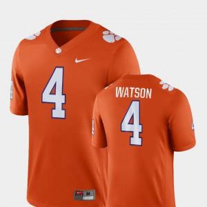 #4 Deshaun Watson Clemson Tigers Game For Men's College Football Jersey - Orange