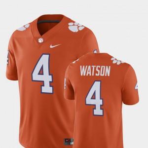 #4 Deshaun Watson Clemson Tigers For Men's Alumni Football Game Player Jersey - Orange