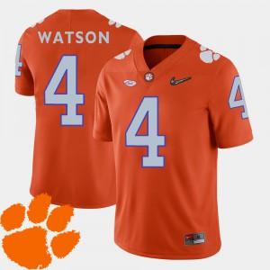 #4 DeShaun Watson Clemson Tigers Men 2018 ACC College Football Jersey - Orange
