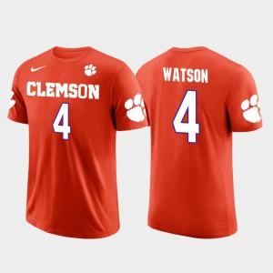 #4 Deshaun Watson Clemson Tigers Future Stars Houston Texans Football For Men T-Shirt - Orange