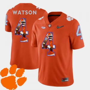 #4 DeShaun Watson Clemson Tigers Men's Football Pictorial Fashion Jersey - Orange