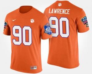 #90 Dexter Lawrence Clemson Tigers Atlantic Coast Conference Sugar Bowl Bowl Game Men T-Shirt - Orange