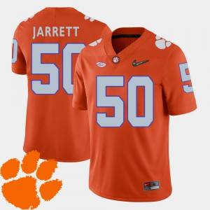 #50 Grady Jarrett Clemson Tigers College Football Mens 2018 ACC Jersey - Orange
