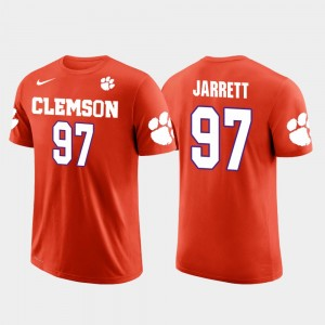 #97 Grady Jarrett Clemson Tigers Atlanta Falcons Football Future Stars Mens T-Shirt - Orange