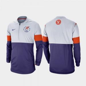Clemson Tigers Men Rivalry Football Half-Zip Jacket - Gray Purple