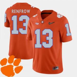 #13 Hunter Renfrow Clemson Tigers Men's 2018 ACC College Football Jersey - Orange