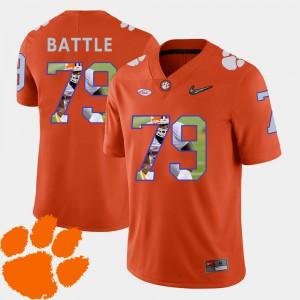 #79 Isaiah Battle Clemson Tigers Pictorial Fashion Football Men Jersey - Orange