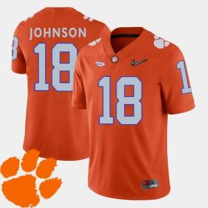#18 Jadar Johnson Clemson Tigers For Men's College Football 2018 ACC Jersey - Orange