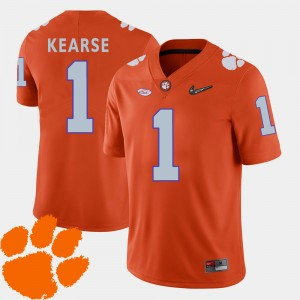 #1 Jayron Kearse Clemson Tigers For Men's College Football 2018 ACC Jersey - Orange