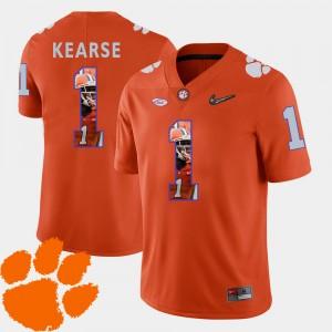 #1 Jayron Kearse Clemson Tigers Men Football Pictorial Fashion Jersey - Orange