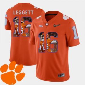 #16 Jordan Leggett Clemson Tigers Men's Football Pictorial Fashion Jersey - Orange