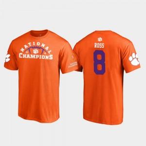 #8 Justyn Ross Clemson Tigers Pylon College Football Playoff 2018 National Champions Men's T-Shirt - Orange