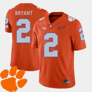 #2 Kelly Bryant Clemson Tigers For Men's College Football 2018 ACC Jersey - Orange