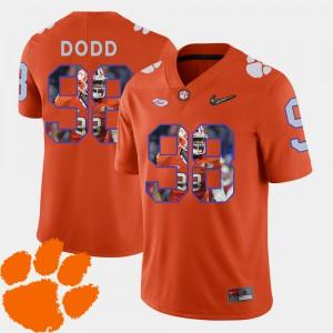 #98 Kevin Dodd Clemson Tigers Football Pictorial Fashion Men's Jersey - Orange