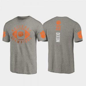 #23 Lyn-J Dixon Clemson Tigers 2018 National Champions College Football Playoff Men's T-Shirt - Gray