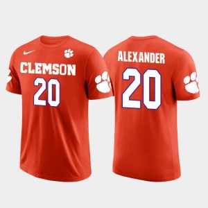 #20 Mackensie Alexander Clemson Tigers Future Stars For Men Minnesota Vikings Football T-Shirt - Orange