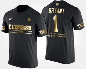 #1 Martavis Bryant Clemson Tigers Gold Limited For Men's Short Sleeve With Message T-Shirt - Black
