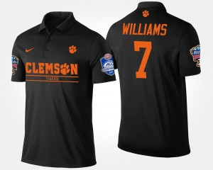 #7 Mike Williams Clemson Tigers Bowl Game Atlantic Coast Conference Sugar Bowl For Men's Polo - Black