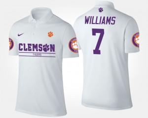 #7 Mike Williams Clemson Tigers Men Polo - White
