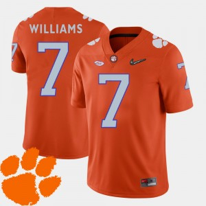 #7 Mike Williams Clemson Tigers College Football 2018 ACC Men's Jersey - Orange