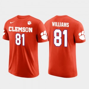 #81 Mike Williams Clemson Tigers Future Stars Los Angeles Chargers Football Men T-Shirt - Orange