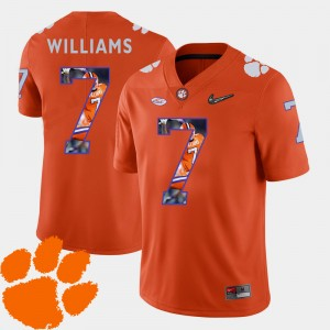 #7 Mike Williams Clemson Tigers Football Pictorial Fashion Men's Jersey - Orange