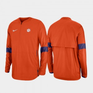 Clemson Tigers Quarter-Zip 2019 Coaches Sideline Men's Jacket - Orange
