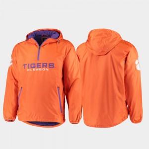 Clemson Tigers Base Runner For Men Half-Zip Jacket - Orange