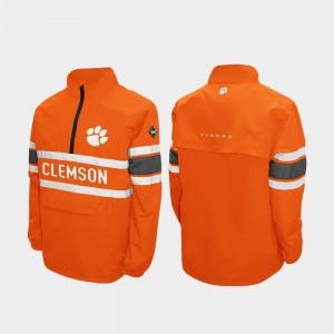 Clemson Tigers Men Alpha Windshell Pullover Quarter-Zip Jacket - Orange