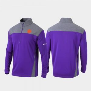 Clemson Tigers Omni-Wick Standard Men Quarter-Zip Pullover Jacket - Purple