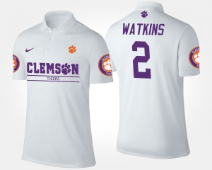 #2 Sammy Watkins Clemson Tigers Men's Polo - White