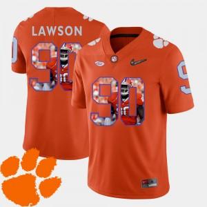 #90 Shaq Lawson Clemson Tigers Men's Pictorial Fashion Football Jersey - Orange