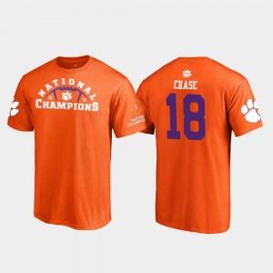 #18 T.J. Chase Clemson Tigers 2018 National Champions Men's Pylon College Football Playoff T-Shirt - Orange